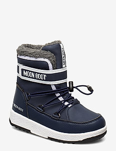 MB MOON BOOT JR BOY BOOT WP - BLUE NAVY/WHITE