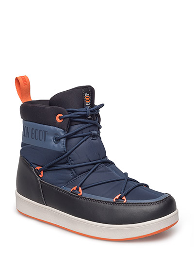 MB MOON BOOT NEIL - BLUE SC.-BLACK-ARANCIO
