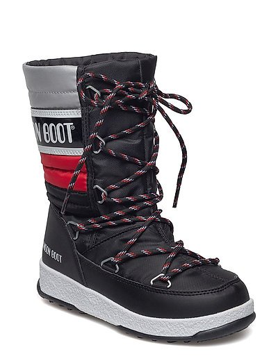 WE QUILTED JR WP - BLACK-RED-SILVER