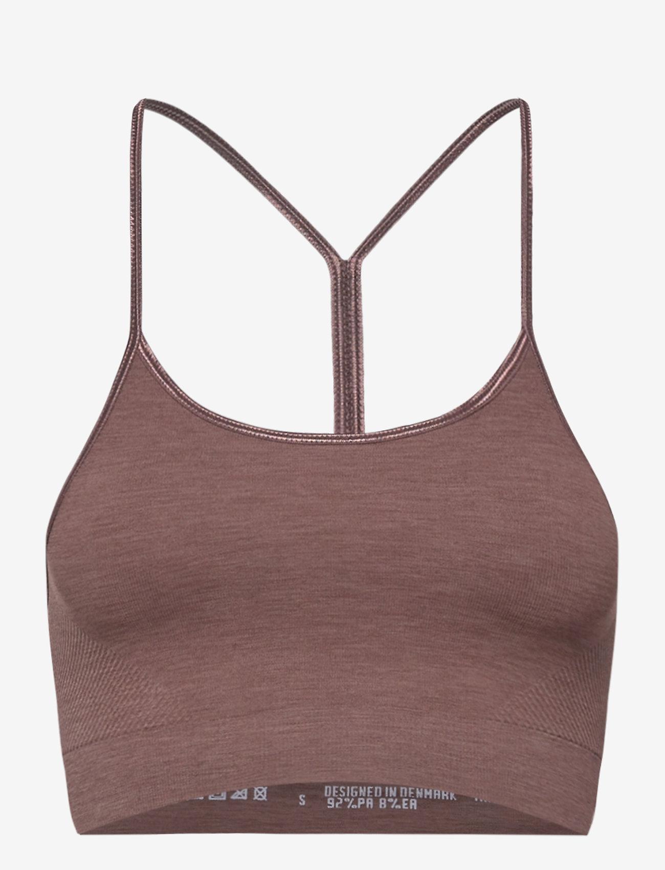 Moonchild Yoga Wear - Seamless Zen Top - urheiluliivit: matala tuki - earth - 1