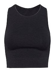 Seamless Crop Top - ONYX BLACK