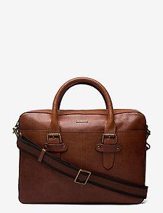 Gene - briefcases - midbrown