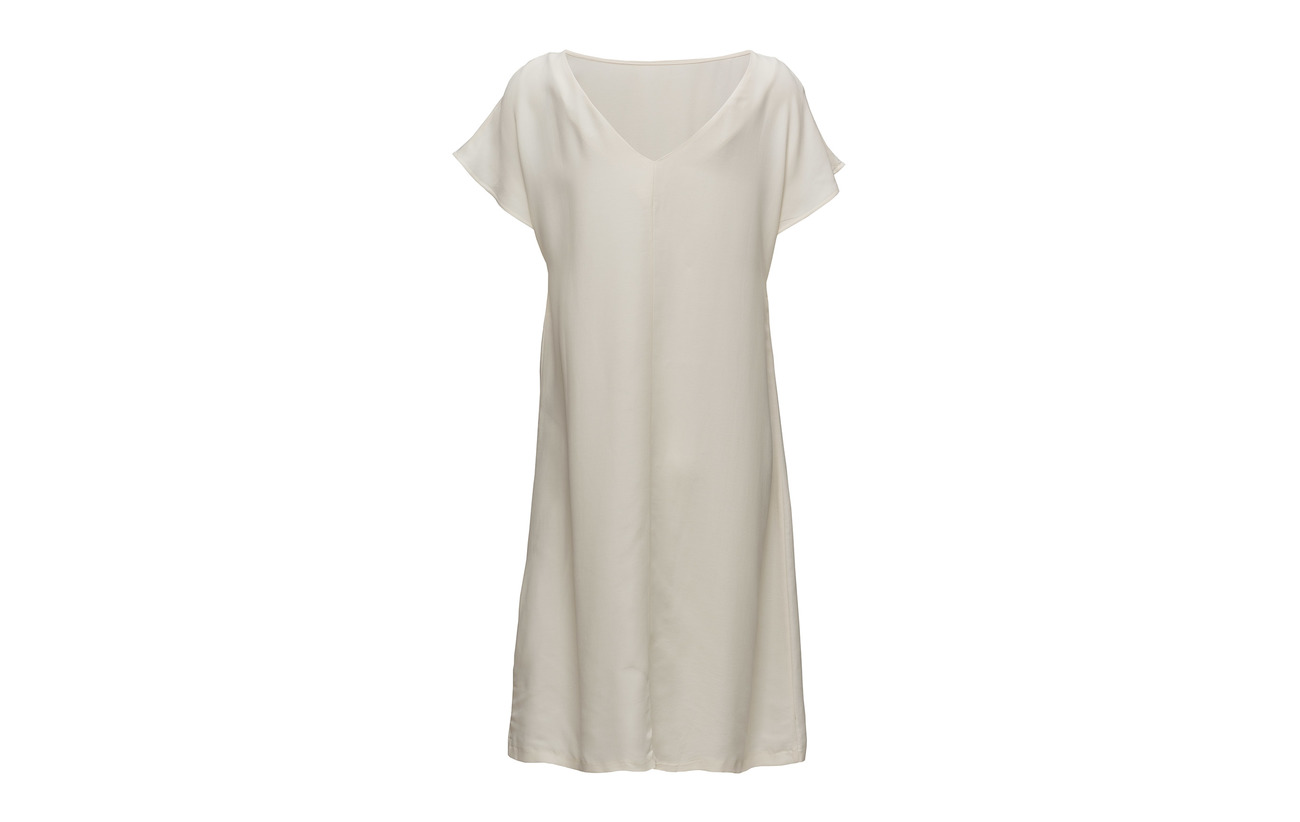 Tencel 50 Lady Équipement Dress White Viscose Morris Off Deauville 8pdFqnC