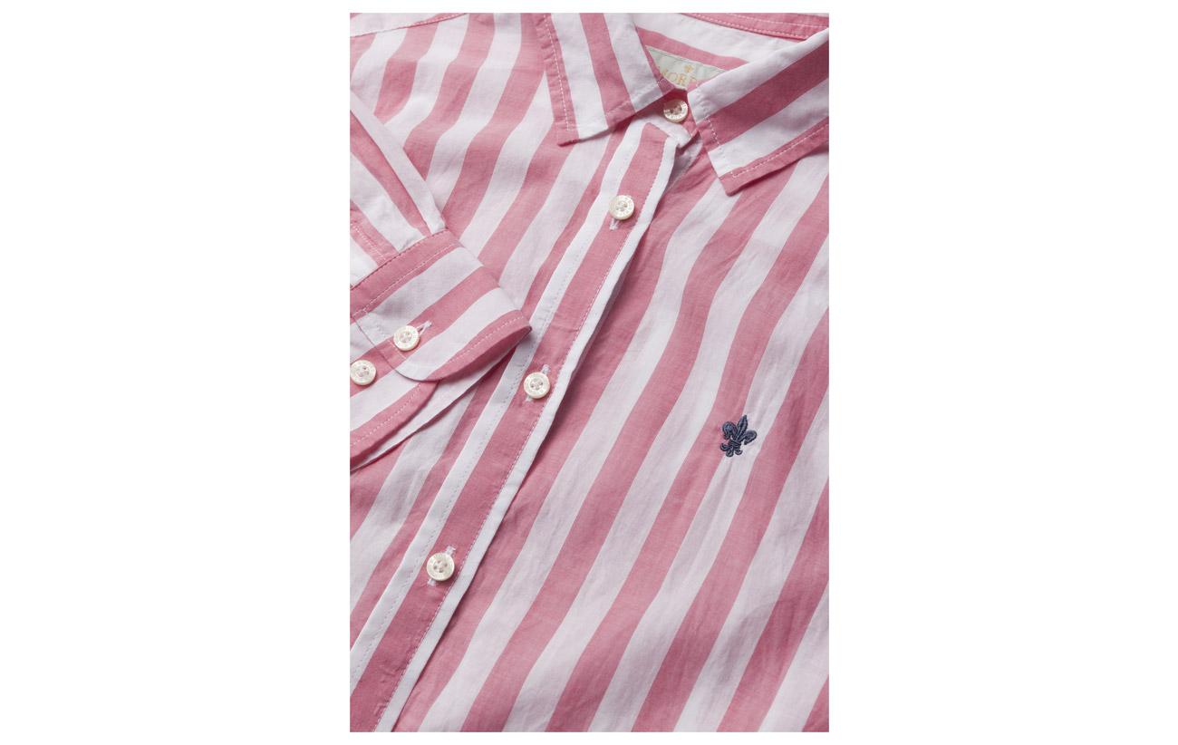 Morris Neva Blue Light 100 Lady Équipement Coton Shirt Stripe rXrqACxw