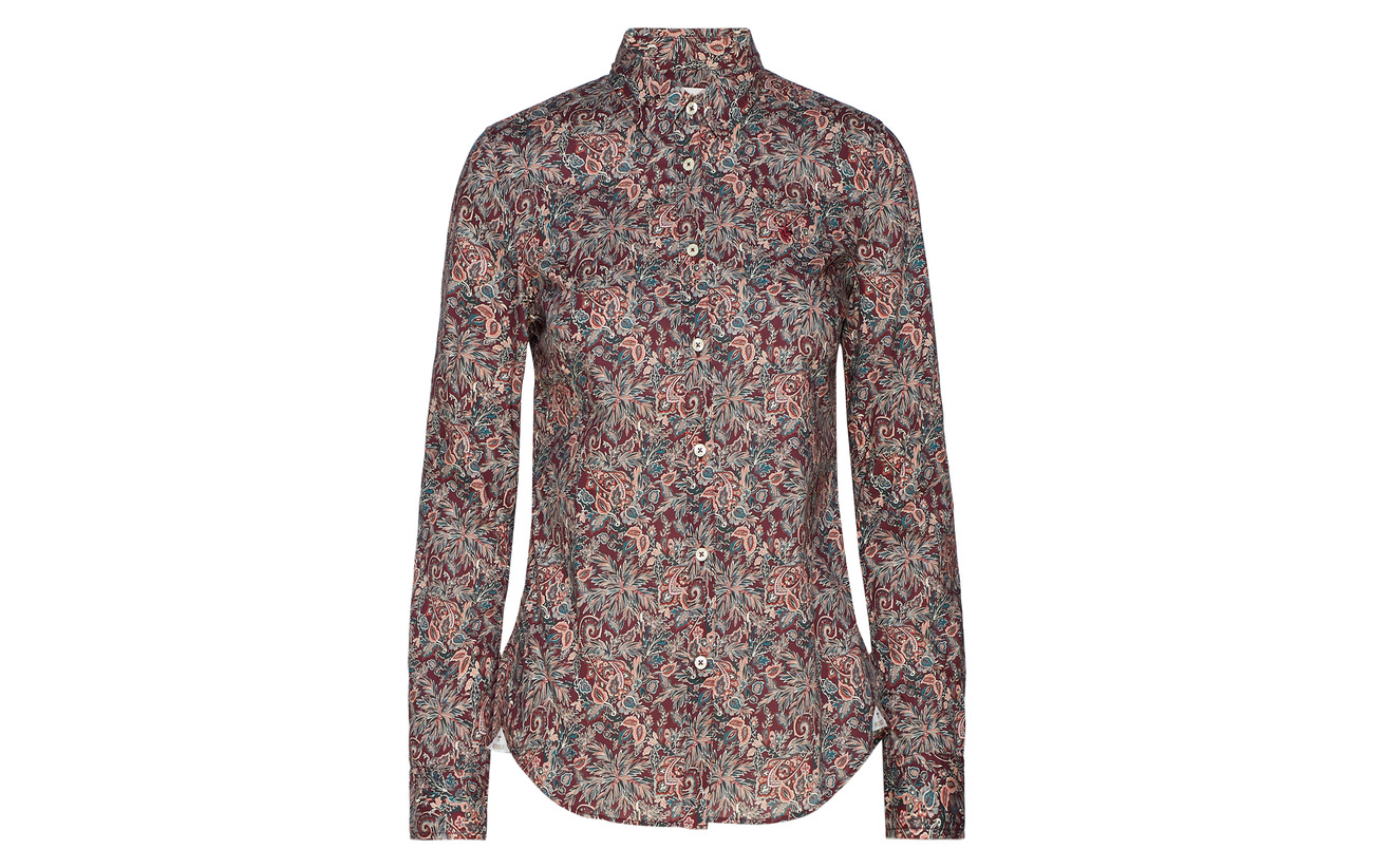 Morris Red Coton Wine Liberty 100 Lily Shirt Lady Rêveur rx4FBrq