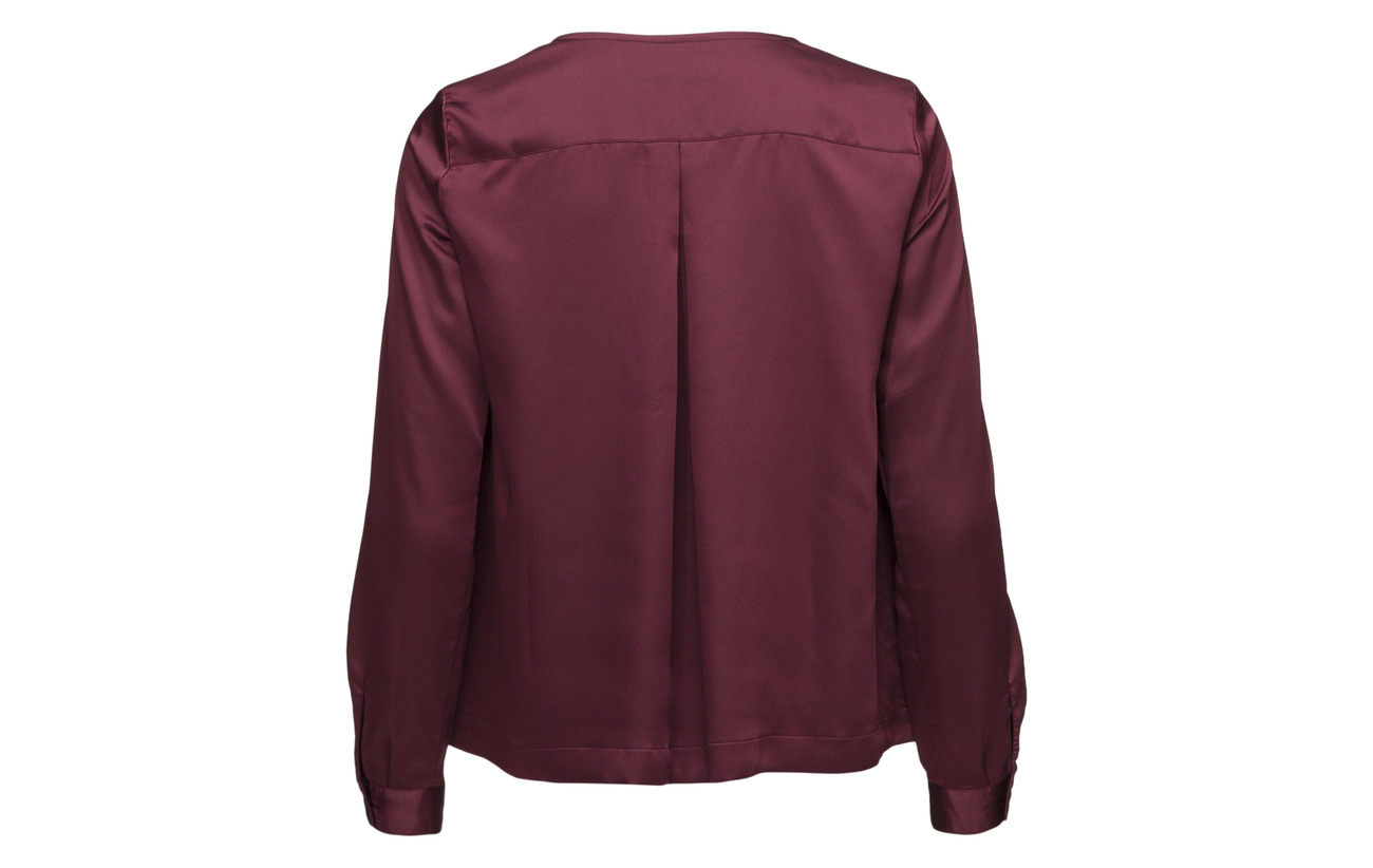 Flora Blouse Polyester Équipement Satin 100 Morris Wine Lady Red aqx5ngpz