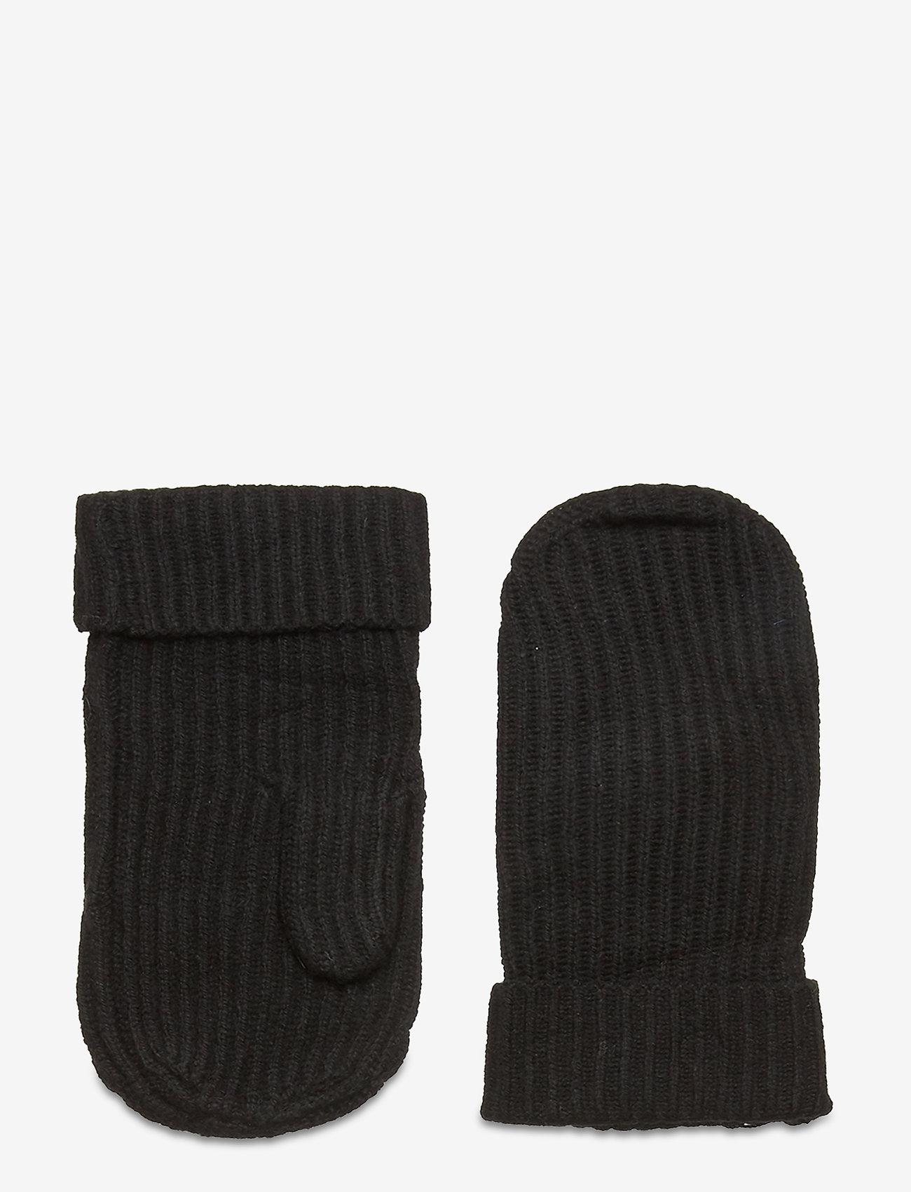 Morris Lady - Aubrey Ribbed Mittens - handschoenen - black - 0