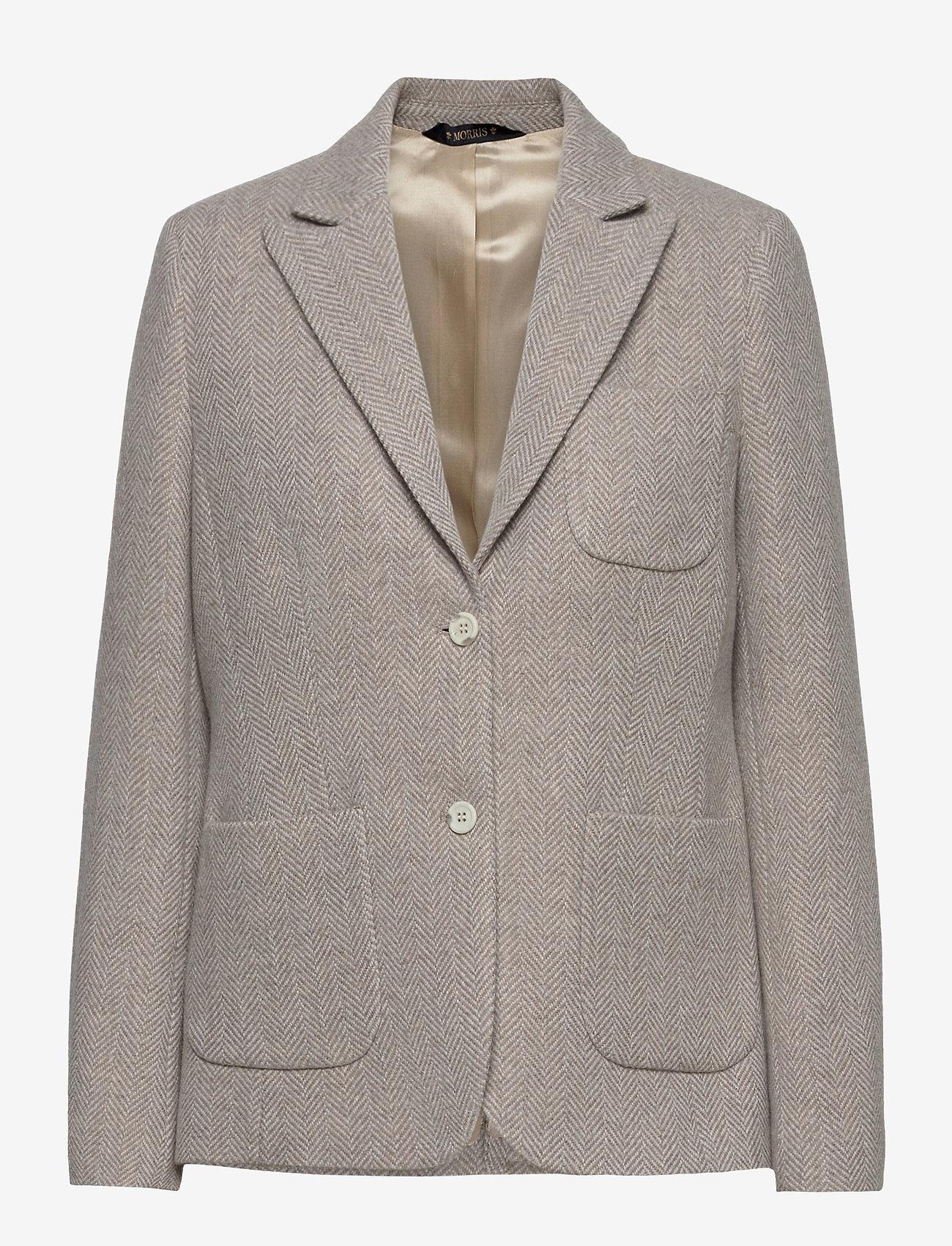 Morris Lady - Delores Herringbone Blazer - casual blazers - khaki - 0