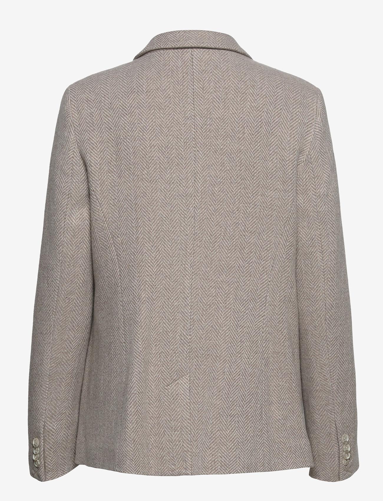 Morris Lady - Delores Herringbone Blazer - casual blazers - khaki - 1
