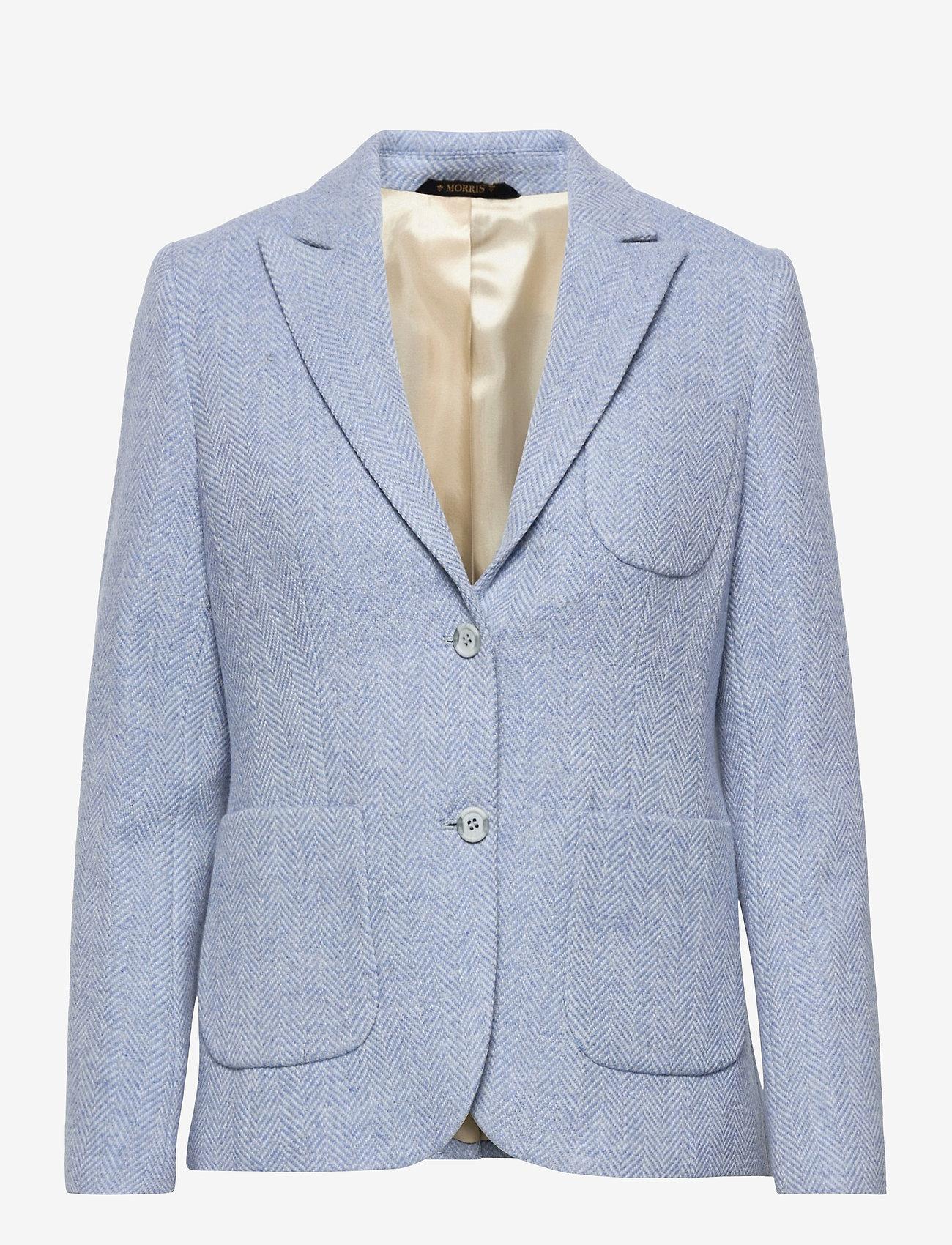 Morris Lady - Delores Herringbone Blazer - casual blazers - light blue - 0