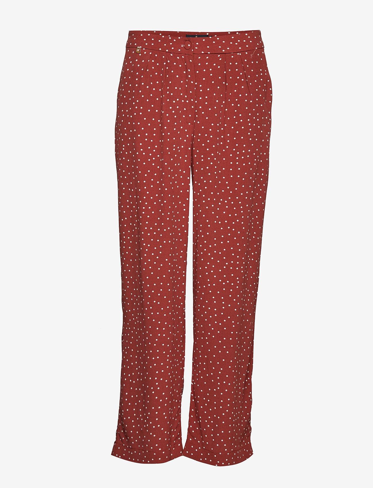 Morris Lady - Valérie Trousers - uitlopende broeken - brown - 0
