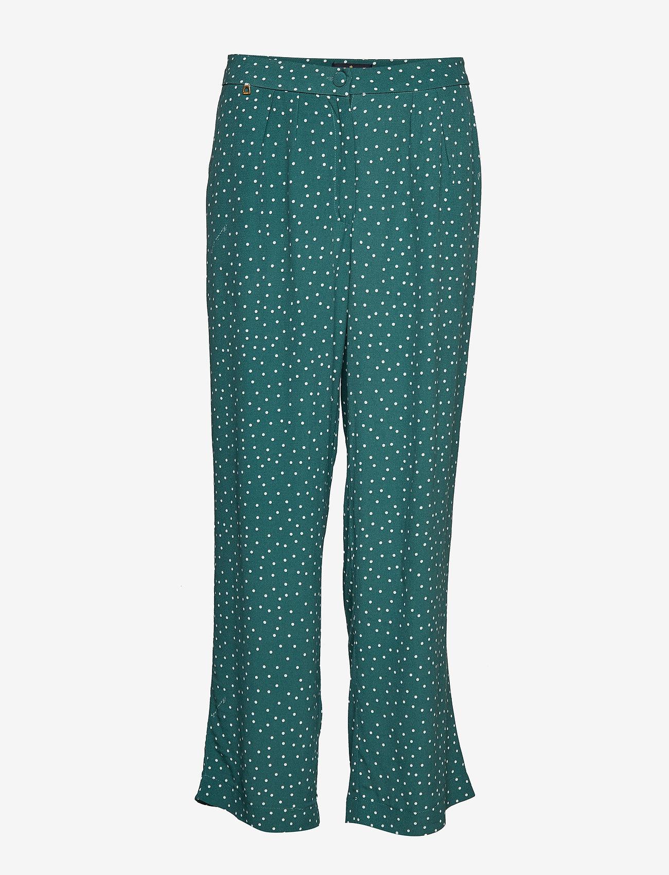 Morris Lady - Valérie Trousers - bukser med brede ben - green - 0