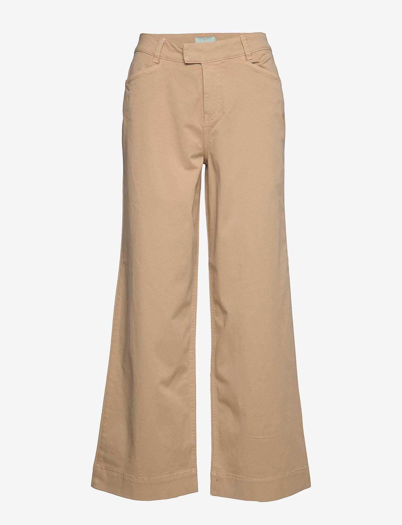 Morris Lady - Francoise Trousers - bukser med brede ben - camel - 0