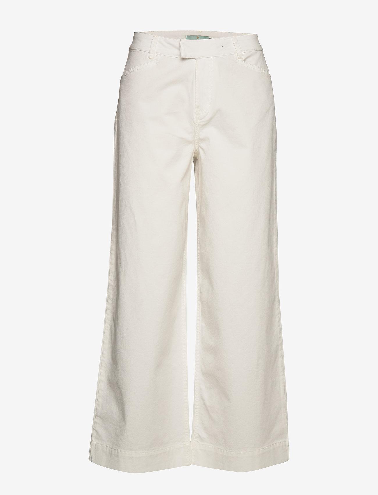 Morris Lady - Francoise Trousers - bukser med brede ben - off white - 0