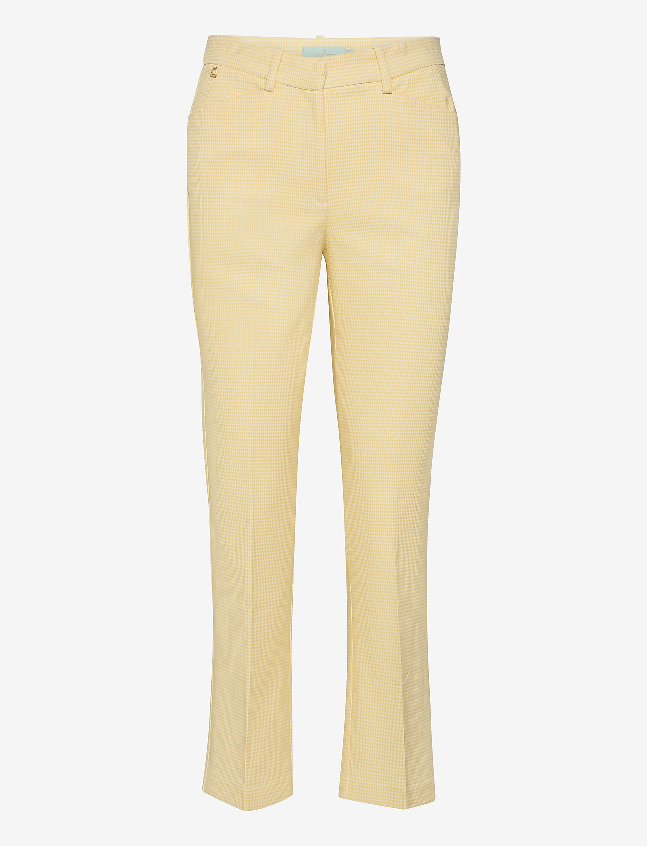 Morris Lady - Anais Checked Trousers - broeken med straight ben - yellow - 0