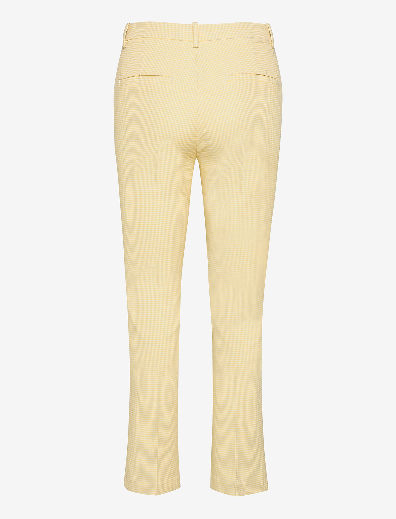 Morris Lady - Anais Checked Trousers - broeken med straight ben - yellow - 1