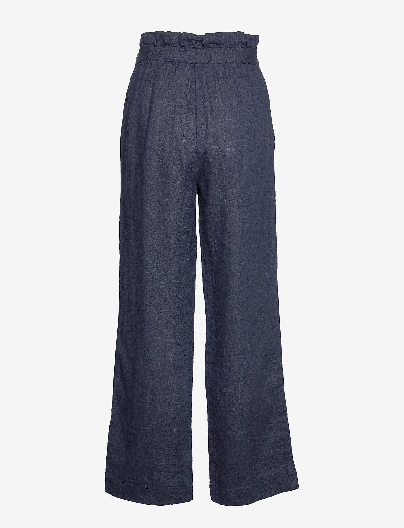 Morris Lady - Elsa Linen Trousers - vida byxor - blue - 1