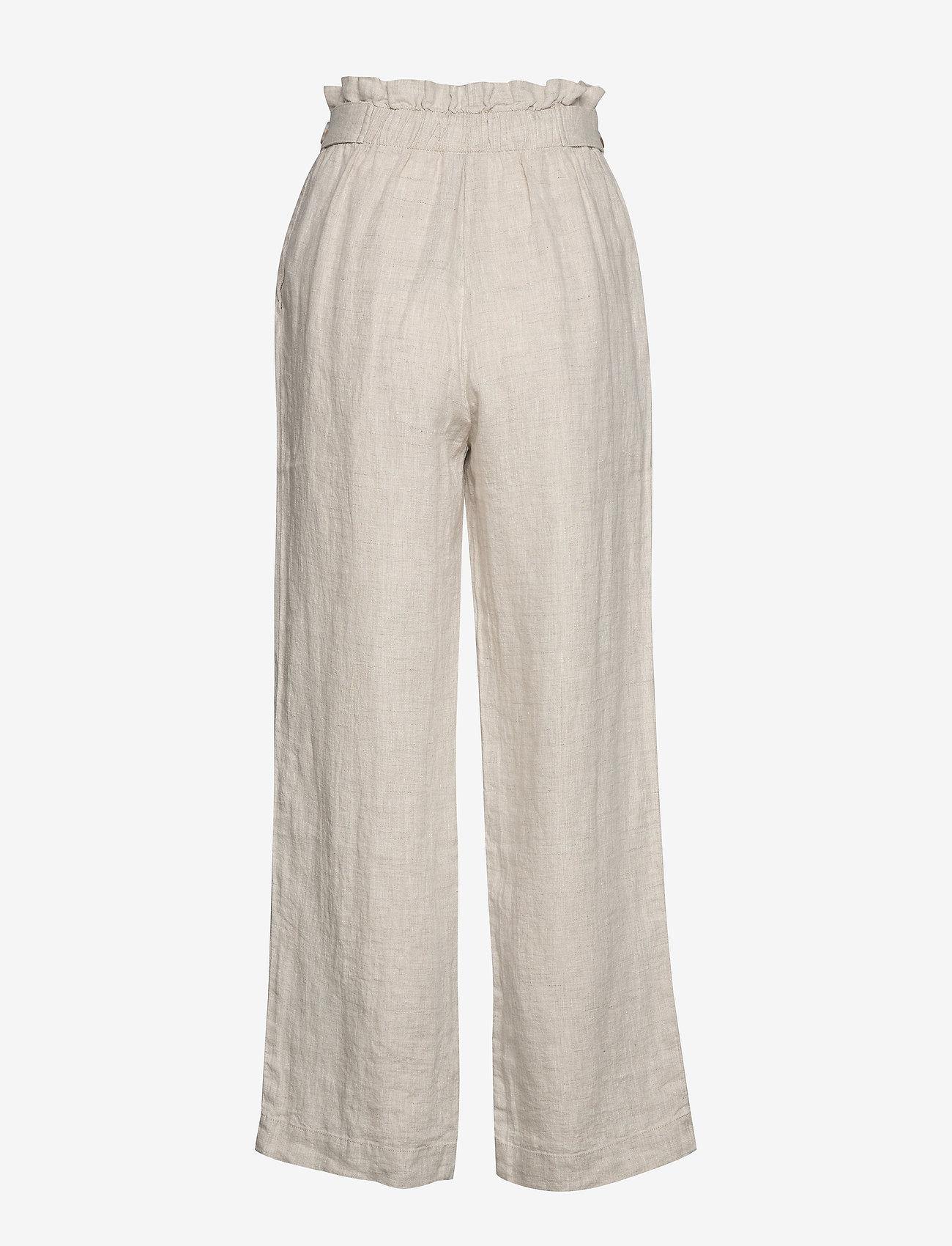 Morris Lady - Elsa Linen Trousers - bukser med brede ben - khaki - 1