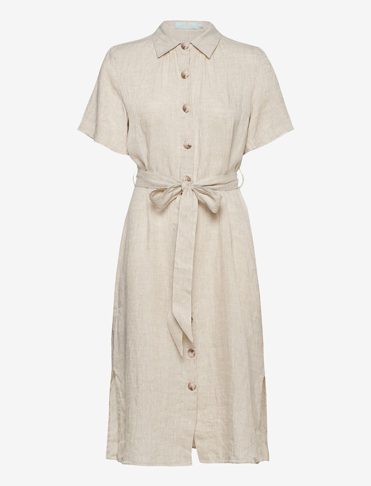 Morris Lady - Hanna Linen Dress - vardagsklänningar - khaki - 0