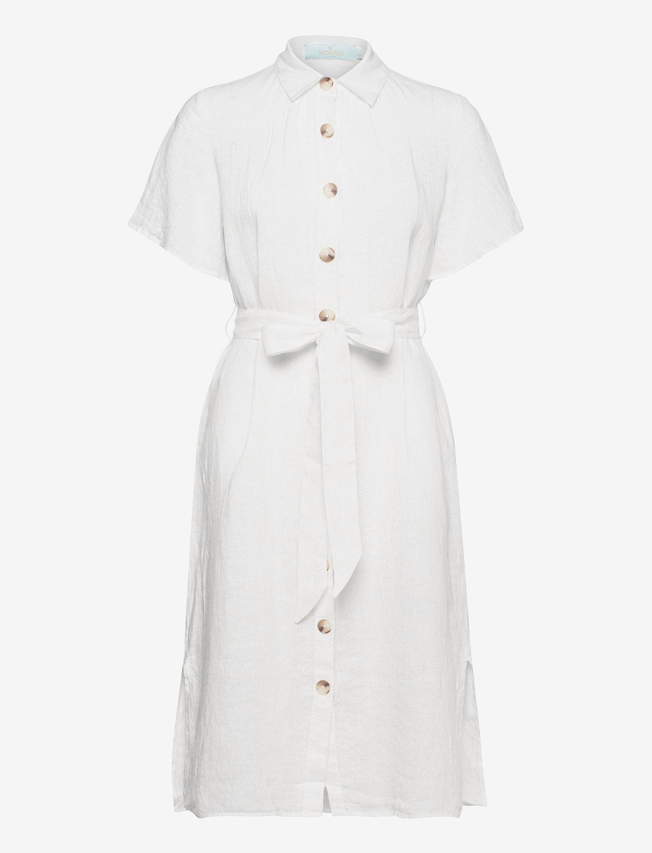 Morris Lady - Hanna Linen Dress - sommarklänningar - off white - 0