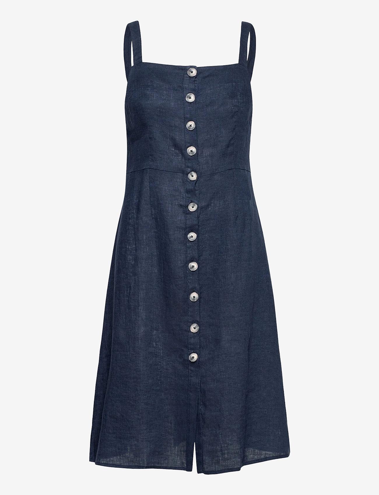 Morris Lady - Nathalie Linen Dress - midi dresses - blue - 0