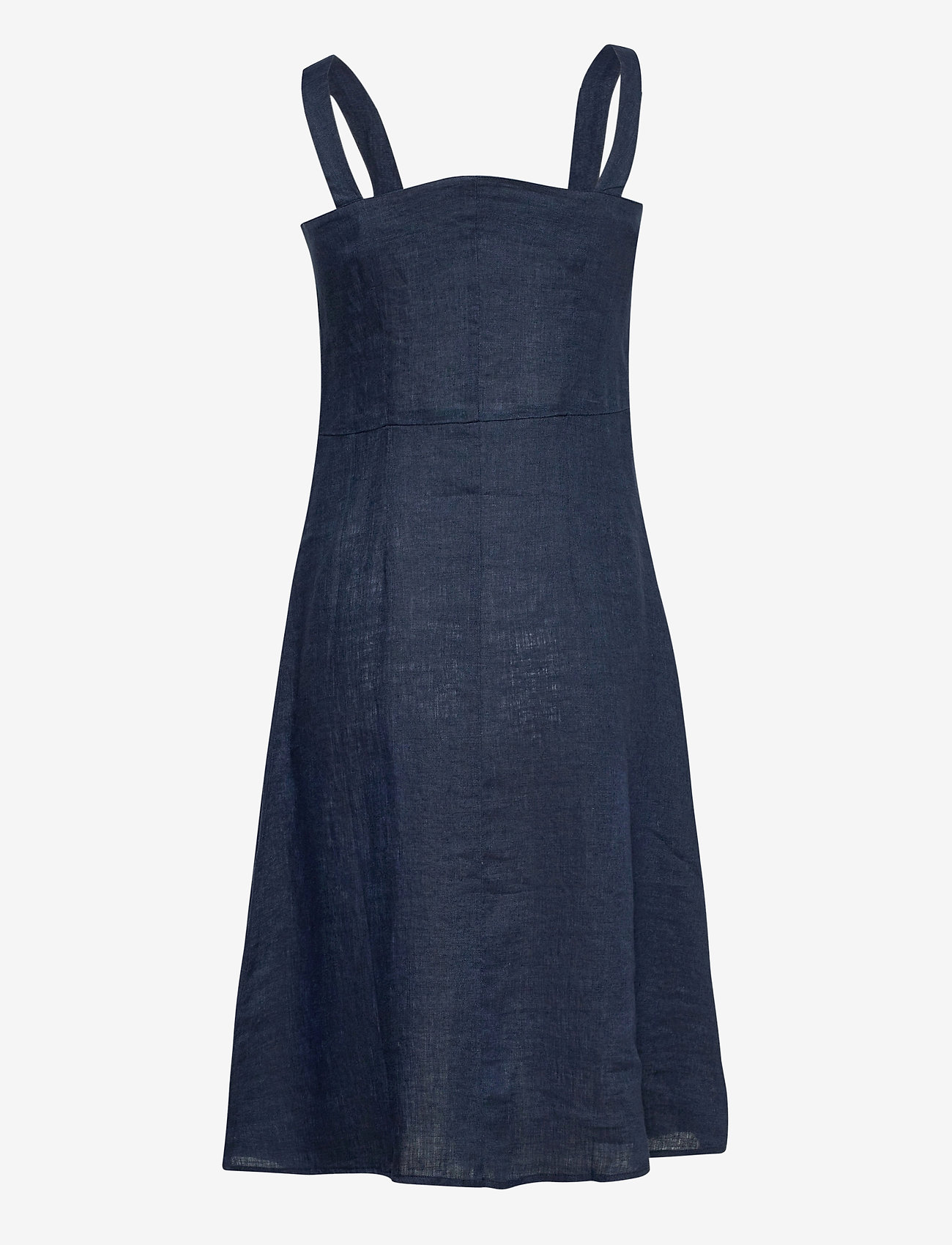 Morris Lady - Nathalie Linen Dress - midi dresses - blue - 1