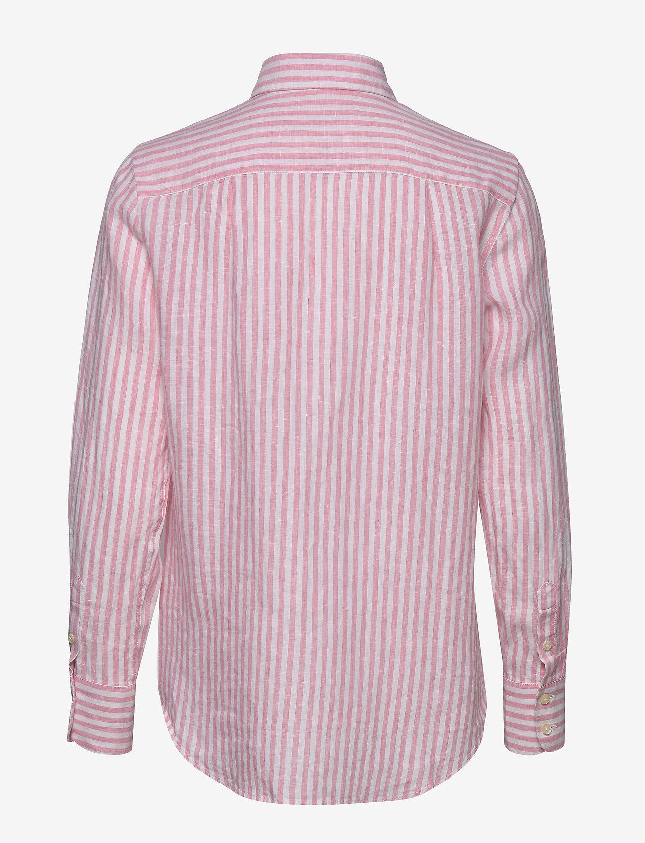 Kirsten Linen Stripe Shirt (Pink) - Morris Lady snFu62