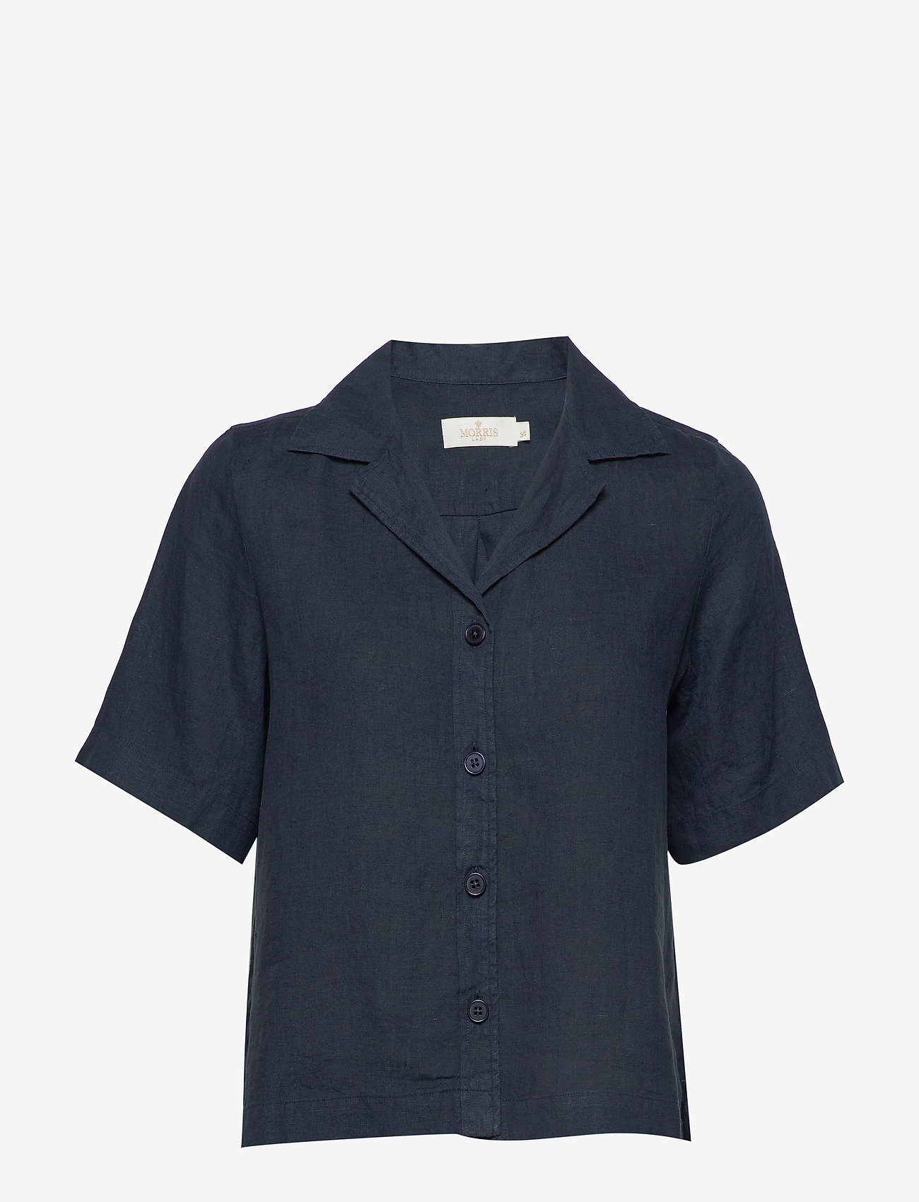 Morris Lady - Donna Linen Shirt - overhemden met korte mouwen - navy - 0