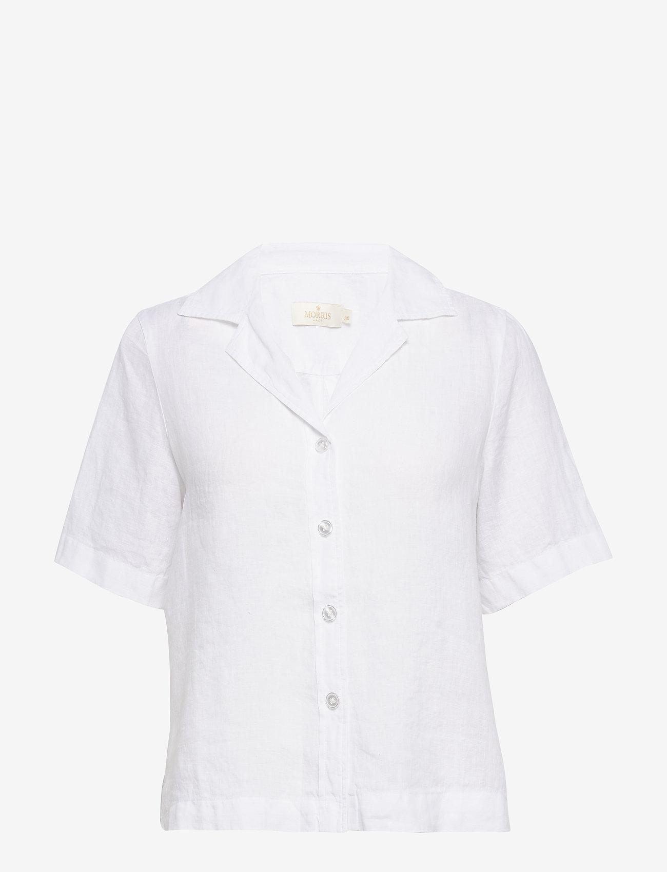 Morris Lady - Donna Linen Shirt - kortärmade skjortor - white - 0