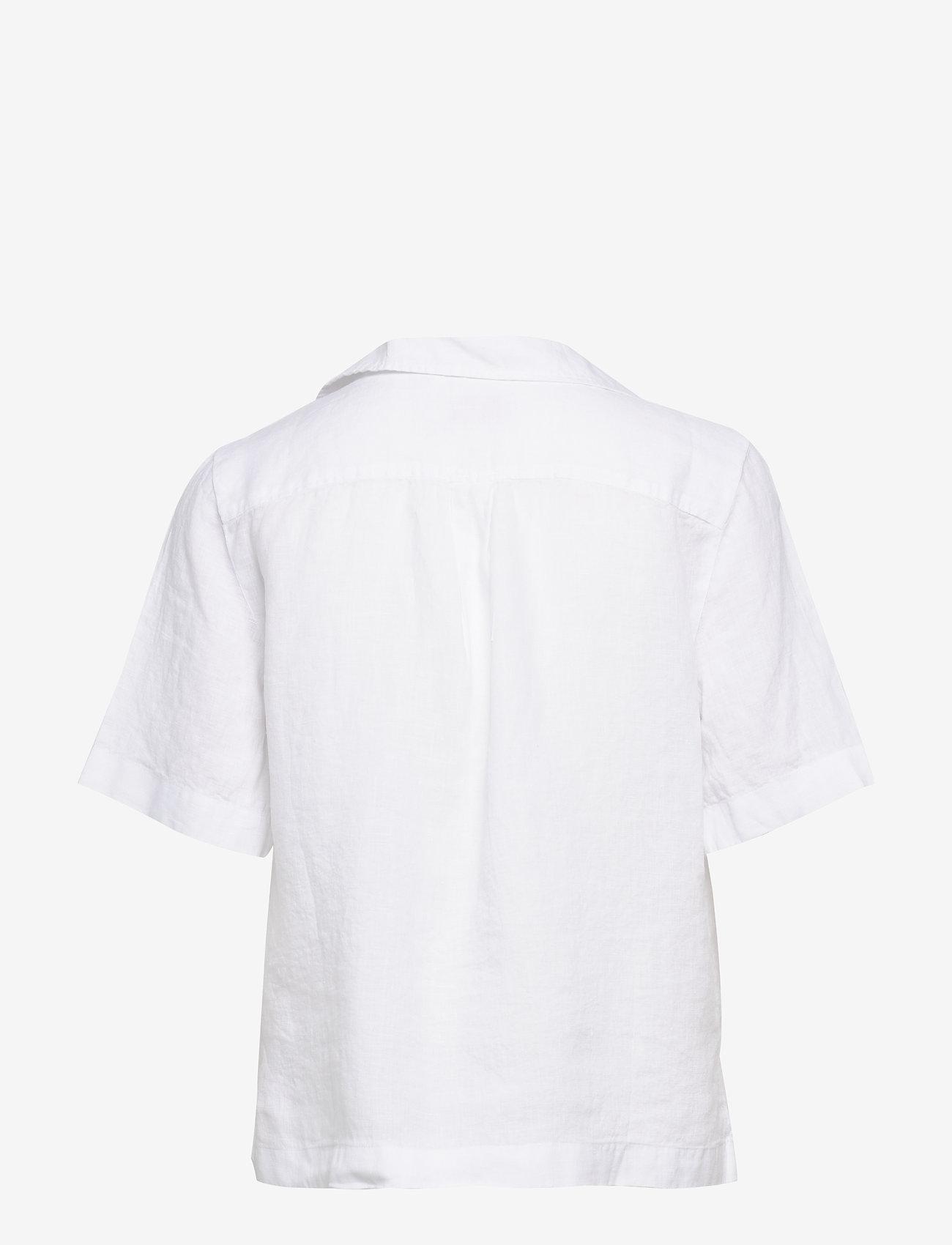 Morris Lady - Donna Linen Shirt - kortärmade skjortor - white - 1