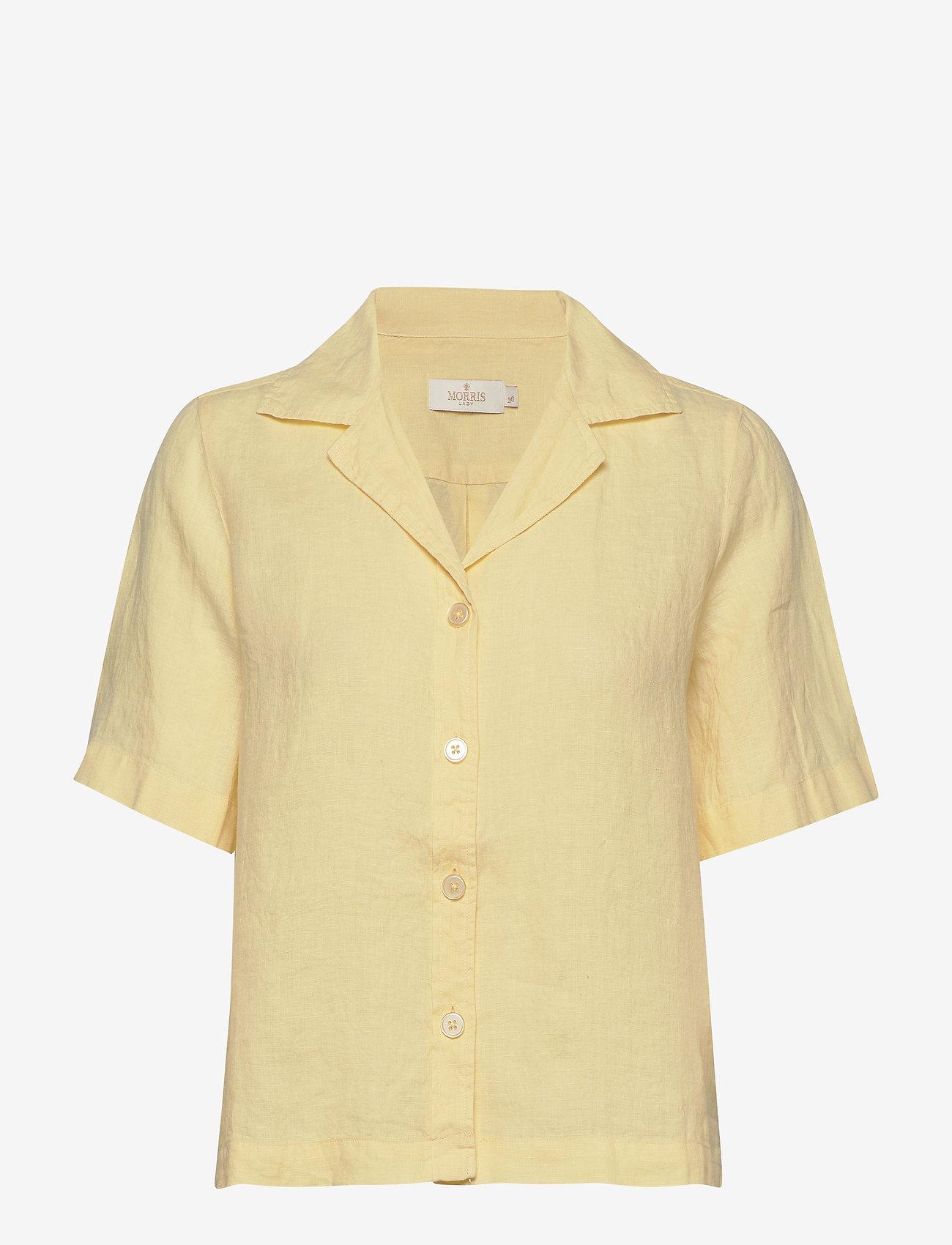 Morris Lady - Donna Linen Shirt - kortärmade skjortor - yellow - 0