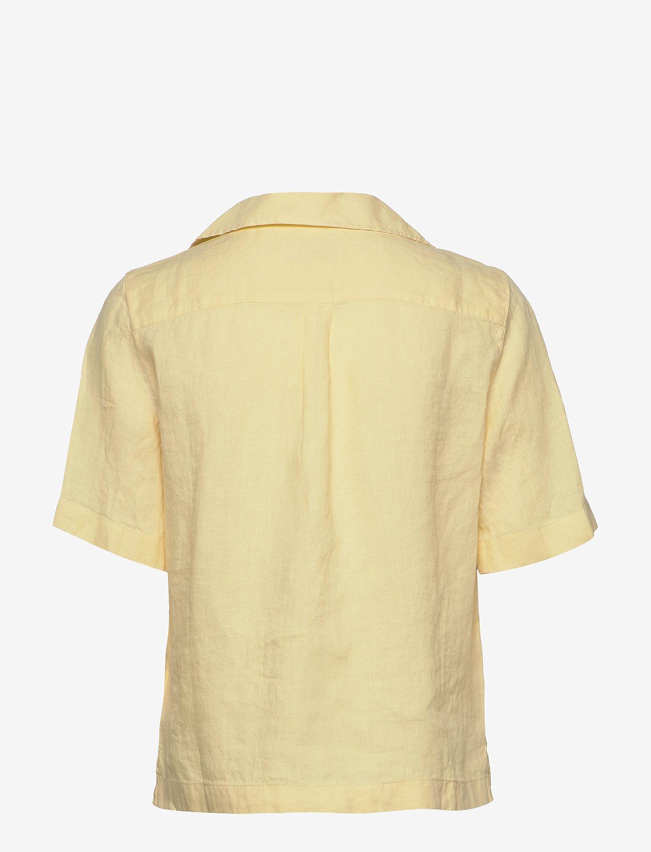Morris Lady - Donna Linen Shirt - kortärmade skjortor - yellow - 1
