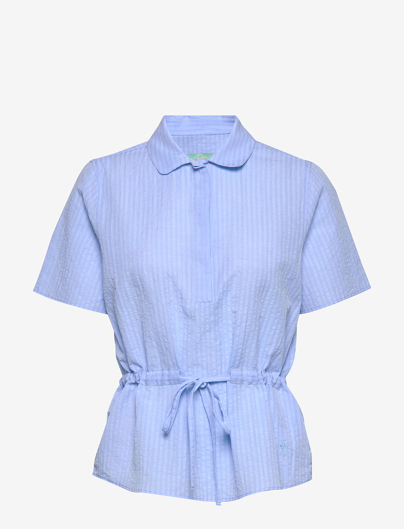 Morris Lady - Ivet Blouse - kortärmade blusar - blue - 0