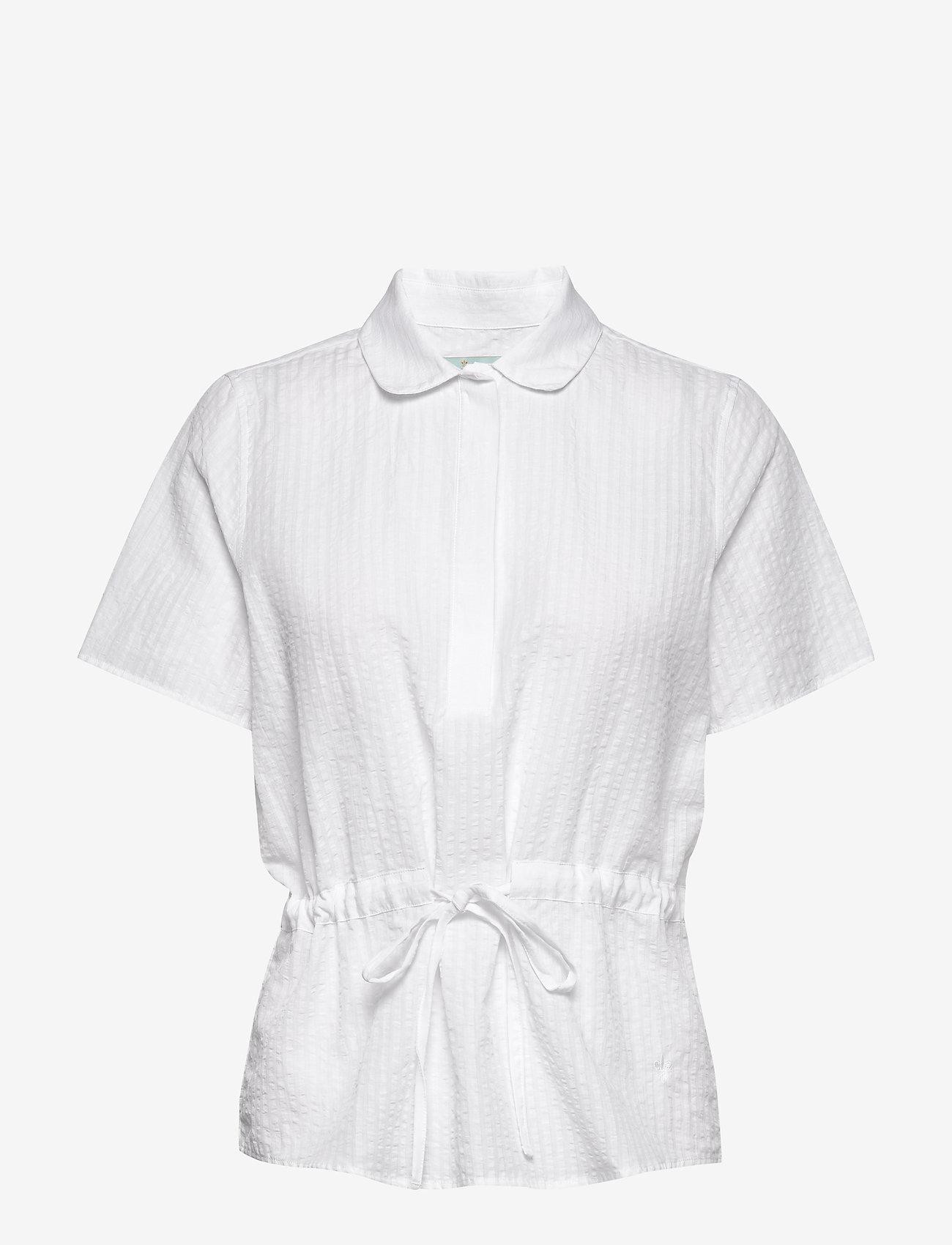 Morris Lady - Ivet Blouse - kortärmade blusar - white - 0