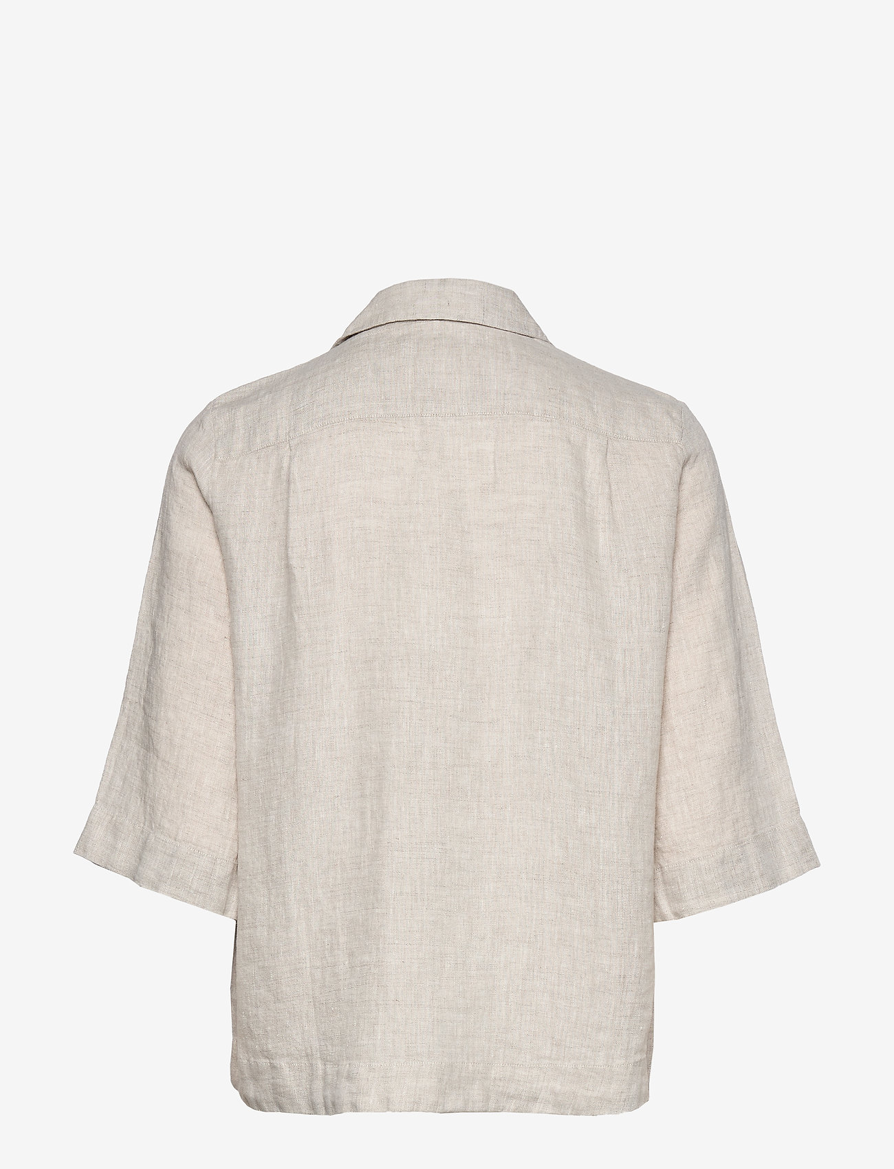 Morris Lady - Marseille Linen Blouse - kortärmade blusar - khaki - 1