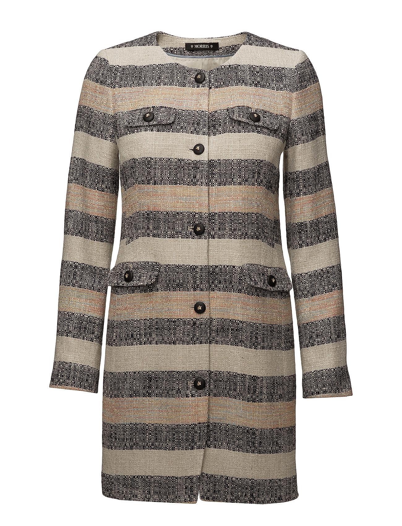 Morris Lady Audrey Stripe Coat - KHAKI