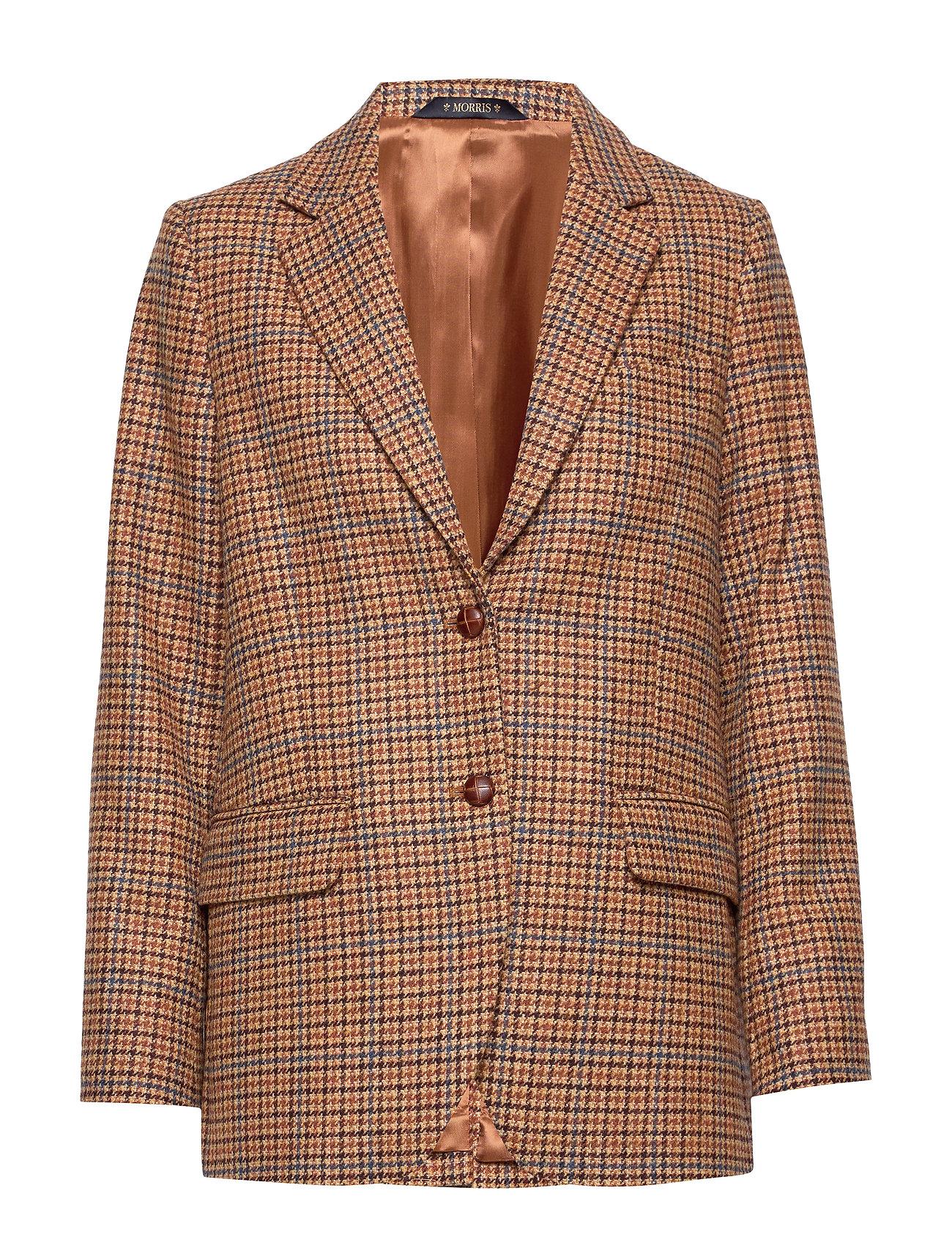 Morris Lady Castillon Checked Blazer - BROWN