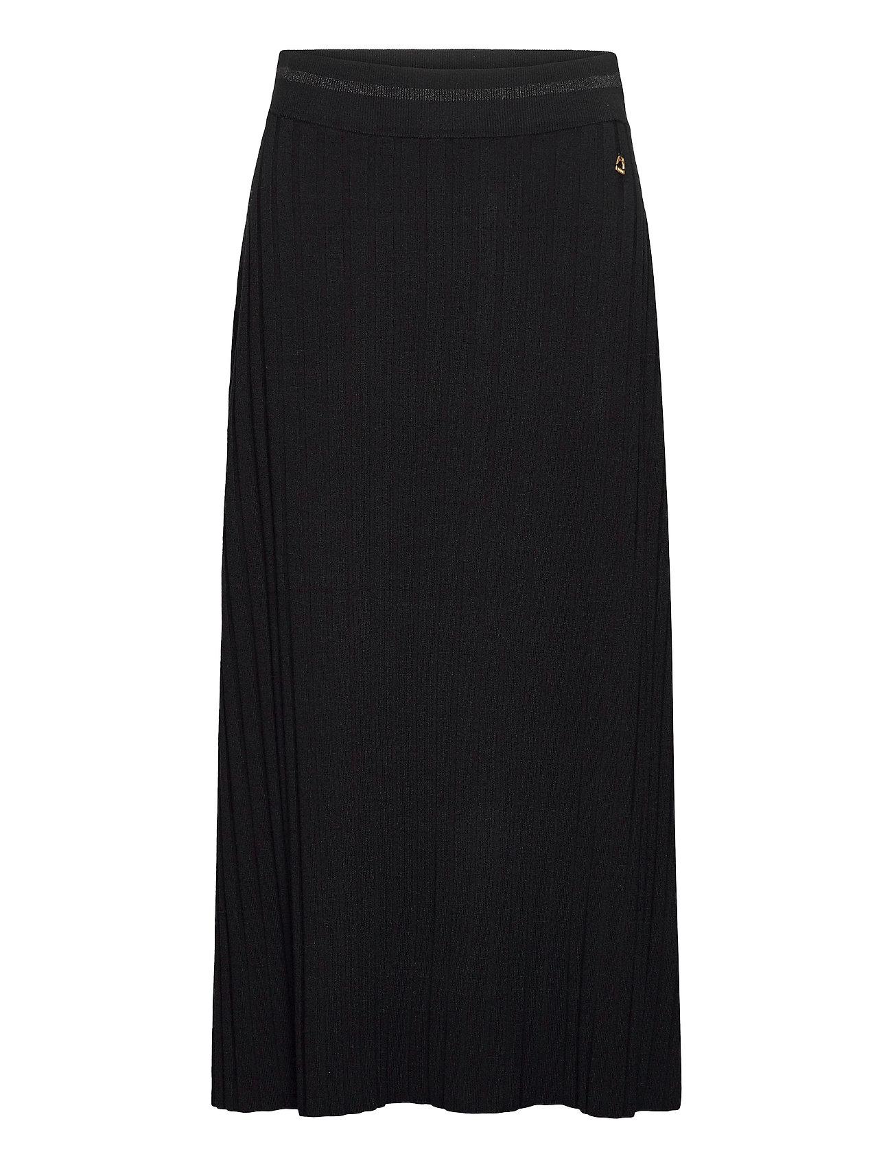 Image of Alette Knit Skirt Lang Nederdel Sort Morris Lady (3486936965)