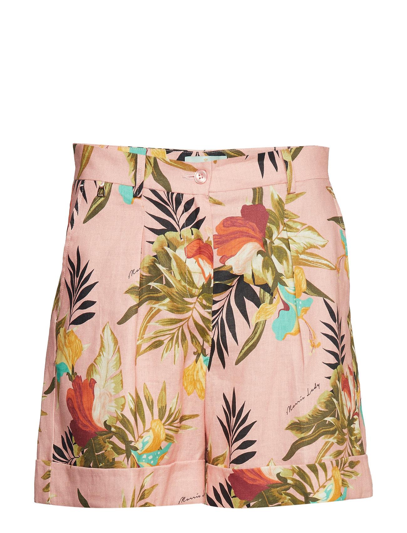 Morris Lady Mara Printed Linen Shorts - PINK