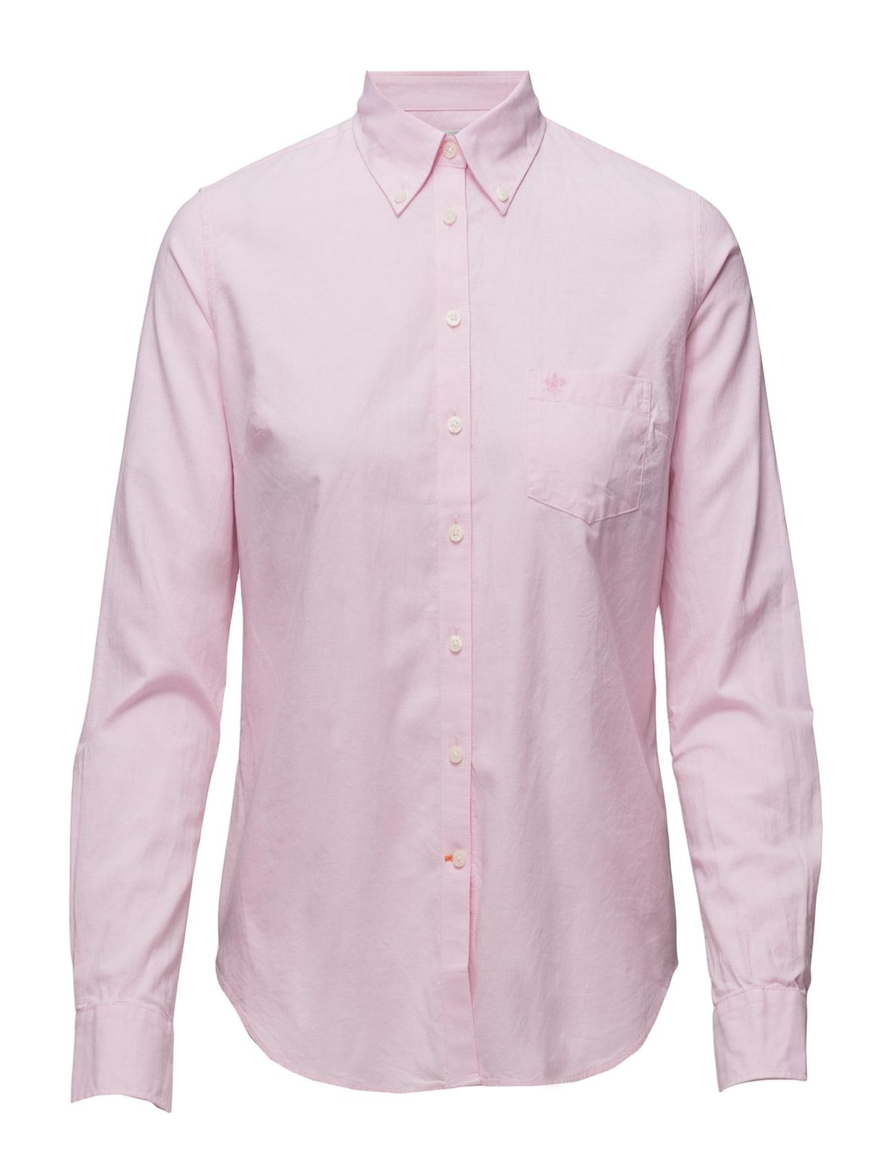 Classic Oxford Shirt Langærmet Skjorte Lyserød Morris Lady