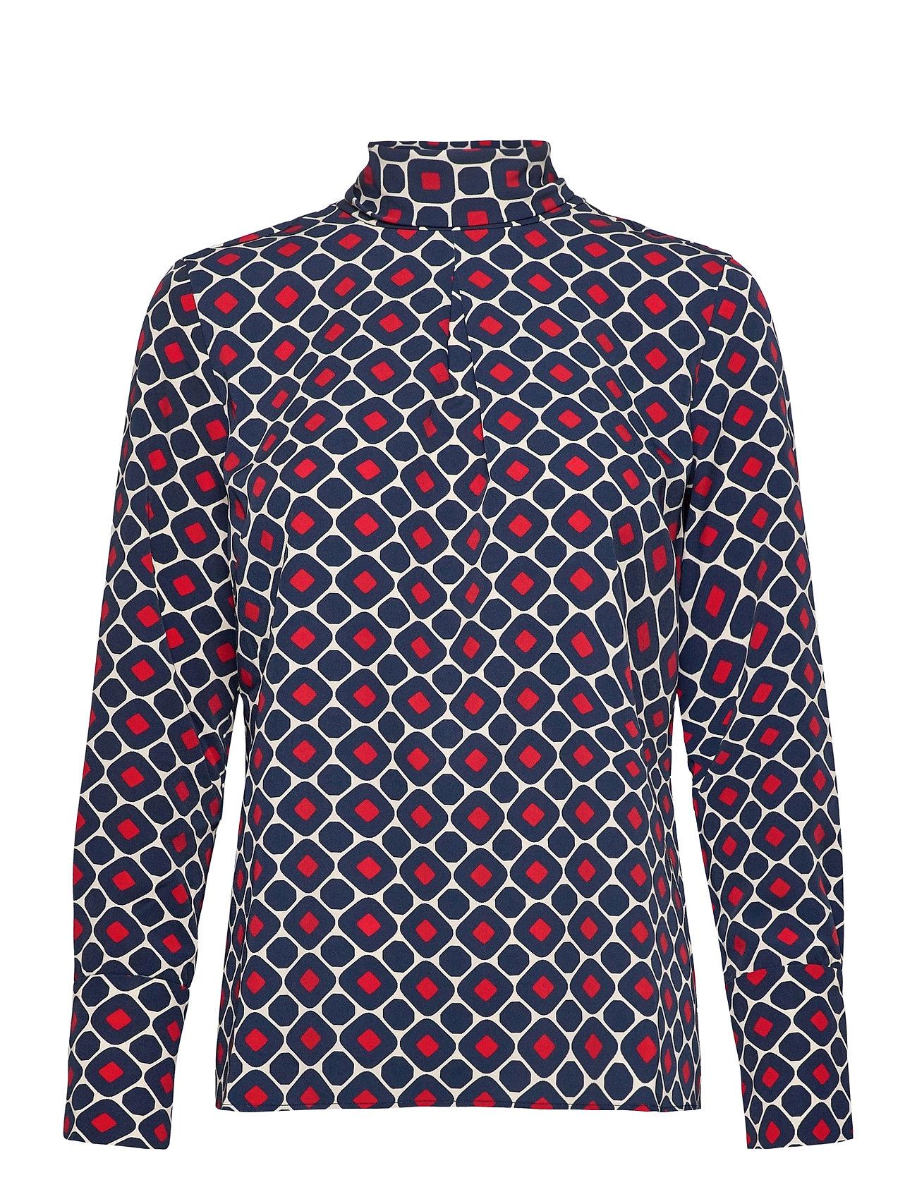 Image of Aderyn Printed Blouse Bluse Langærmet Blå Morris Lady (3473872483)