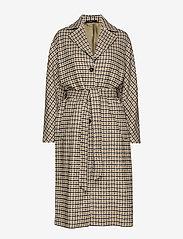 Morris Lady - Maebel Checked Coat - trenchcoats - olive - 0