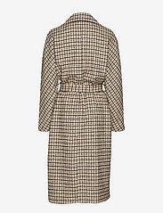 Morris Lady - Maebel Checked Coat - trenchcoats - olive - 1