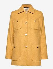 Morris Lady - Marea Herringbone Coat - wool jackets - yellow - 0