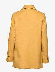 Morris Lady - Marea Herringbone Coat - wool jackets - yellow - 1