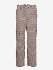 Morris Lady - Arwen Checked Trousers - bukser med brede ben - navy - 0