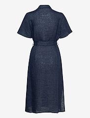 Morris Lady - Hanna Linen Dress - vardagsklänningar - blue - 1