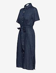 Morris Lady - Hanna Linen Dress - vardagsklänningar - blue - 2