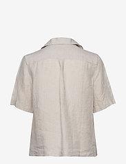Morris Lady - Donna Linen Shirt - kortärmade skjortor - khaki - 1