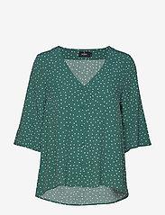 Morris Lady - Délia Blouse - blouses med korte mouwen - green - 0